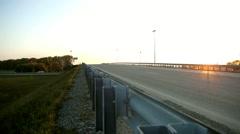 Transport interchange at sunset Stock Footage