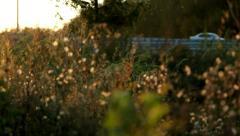 transport interchange at sunset - stock footage
