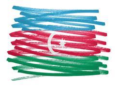 Flag illustration - Azerbaijan - stock photo