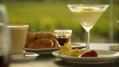 Fine Dining Morning Brunch Tea Time - stock footage