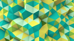 Multicolor polygonal geometric surface seamless loop Stock Footage