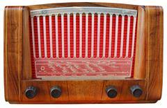 Wooden Radio Tuner - stock photo
