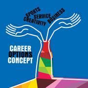 career option - stock illustration