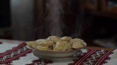 Ukrainian vareniki - homemade 1 Stock Footage