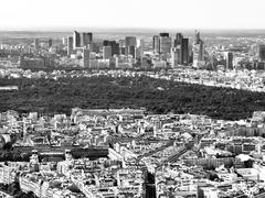 View of parisian business district La Defense Stock Photos