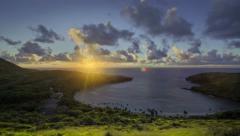 Dynamic Hanauma Bay Dawn Time Lapse Oahu, Hawaii, 4K v2 - stock footage