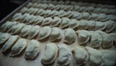 Homemade ukrainian dish - vareniki Stock Footage