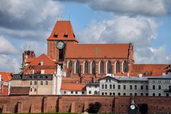 Medieval Old Town of Torun City Skyline Kuvituskuvat