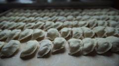 Ukrainian vareniki - homemade 2 Stock Footage