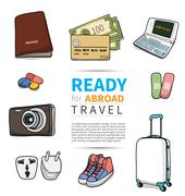 Stock Illustration of object for abroad travel