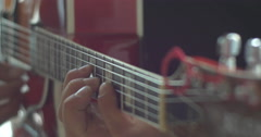 Guitar player and song writer Stock Footage