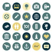 Flat design icons for travel and leisure Stock Illustration