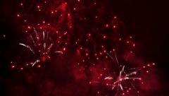 Bright Fireworks Rockets at Night - stock footage