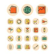 Thin line icons for business, finance and banking Piirros