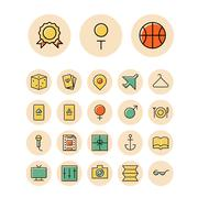 Thin line icons for leisure, travel and sport Stock Illustration