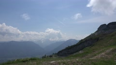 4k Amazing alps panning shot view Loser mountain Austria Stock Footage