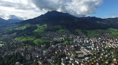 Aerial Footage of Kriens and Mount Pilatus, Central Switzerland, 4K, UHD Stock Footage