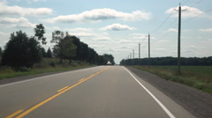 POV Driving In Southern Ontario Canada Through Rural Farmland Stock Footage