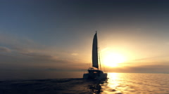 Sailing Into The Sunset Stock Footage