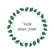 Stock Illustration of Vintage leaves frame