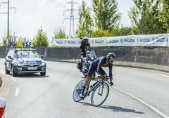 The Cyclist Alejandro Valverde- Tour de France 2014 Stock Photos