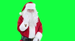 Santa Claus reading a letter chroma key (green screen) Stock Footage