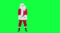 Laughing Santa Claus chroma key (green screen) - stock footage