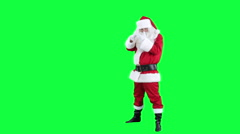 Santa Claus depicts the photographer chroma key (green screen) Stock Footage