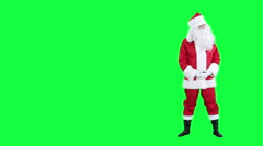 Santa Claus shows up on something chroma key (green screen) Stock Footage