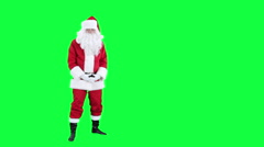 Sneezing Santa Claus chroma key (green screen) - stock footage
