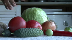 Set Of Vegetables For Healthy Diet Stock Footage