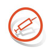 Vaccine sign sticker, orange Piirros