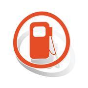 Gas station sign sticker, orange Piirros