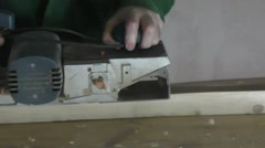 A man working mustard electric - stock footage