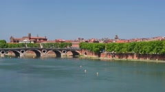 Toulouse in a sunny  day - stock footage