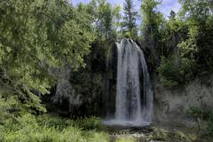 Waterfall in Spearfish South Dakota Stock Photos