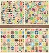 Geometric seamless patterns. Piirros