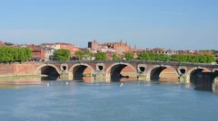 Toulouse in a sunny summer day Stock Footage