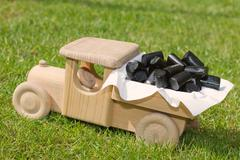Liquorice candy delivery - stock photo