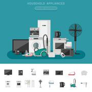 Household appliance Stock Illustration