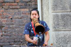 Artists perform in the street Stock Photos