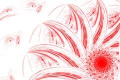 Strange flower with large petals. - stock illustration