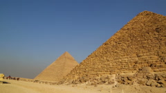 Panorama of great pyramids at Giza Cairo in Egypt - stock footage