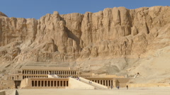 Famous temple of Hatshepsut in Luxor Egypt Stock Footage