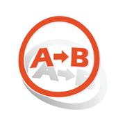 A-B logic sign sticker, orange Stock Illustration