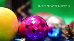 2016 New Year Colorful Background for your  Paarty invitations. Stock Footage
