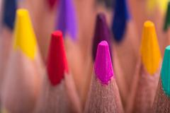 Stock Photo of Color pencils background. close up of pencil color