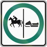 Equestrian And Snowmobile Lane in Canada Piirros