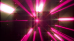4k Pink Dance of Lights Animation Seamless Loop. - stock footage