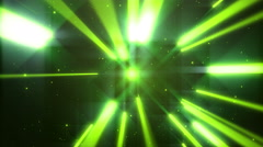 Stock Video Footage of 4k Green Dance of Lights Animation Seamless Loop.